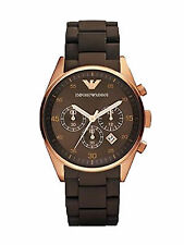 Emporio Armani AR5891 Unisex Brown Dial Chronograph Display Watch