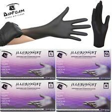 100PCS Black Latex Gloves Disposable Automotive Tattoo Food Cleaning S/M/L/XL