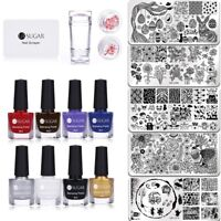 UR SUGAR Nail Art Stamping Polish Stamp Plate Image Template Stamper Scarper DIY