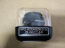 Rodenstock APO-Rodagon-D 75 mm F 1:4,5 Lens (Cat-Nr . 273 0075 002)