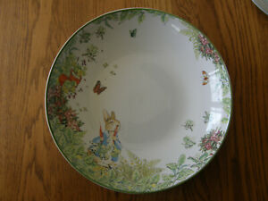 Pottery Barn Large Peter Rabbit Garden Serving Bowl-Easter- Birthday Party - New