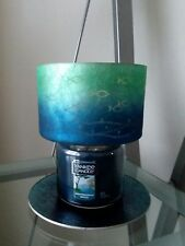 YANKEE CANDLE SEASIDE SILHOUETTE BARREL JAR CANDLE SHADE AND TRAY NEW