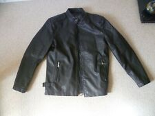 "Men's PU Leather Biker Motorcycle Style Jacket XL (L) 42""-44"" - NEW - LOOK!"