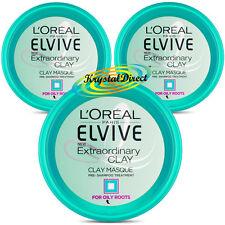 3x Loreal Elvive Extraordinary Clay Masque Pre Shampoo Treatment 150ml Hair Mask