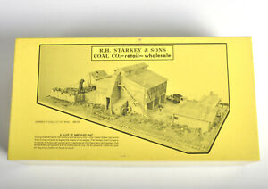 Fine Scale Models NOS RH Starkey Co Coal Kit No.245 HO Scale Train Building Kit