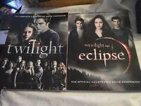 Twilight Movie Companion Book plus Eclipse Robert Pattinson Kristen Stewart