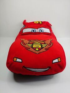 "DISNEY PIXAR CARS 19"" Lightning McQueen Plush Pillow WORLD GRAND PRIX"