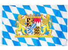 Fahne Bayern mit großem Staatswappen Löwen 90x150 cm Hissflagge Oktoberfest