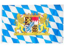 Fahne Bayern mit großem Staatswappen 90x150 cm bayerische Hissflagge Oktoberfest
