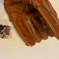 Dwight Evans Signed Vintage 1991 Game Model Glove With JSA COA