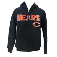 Chicago Bears Kids & Youth Size NFL Official Zip Up Hooded Sweatshirt New Tags