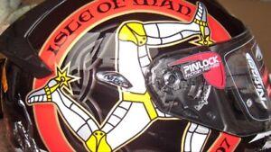Isle Of Man Centennial 100 Year Anniversary Nitro Motorcycle Helmet Memorabilia