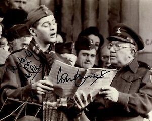 Dads Army comedy photo signed by Pvt Pike star Ian Lavender
