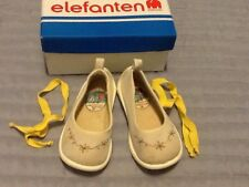 Elefanten Vintage Girls German Espadrilles Canvas Flower Size 22 6.5