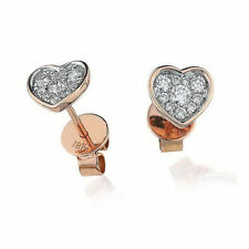 Excellent Cut Rose Gold SI1 Fine Diamond Earrings