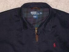 Men's POLO RALPH LAUREN Harrington Jacket w/Lining XL NAVY BLUE w/Maroon Horse