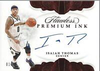 2018-19 Panini Flawless Premium Ink Ruby #20 Isaiah Thomas Auto /15 - NM-MT