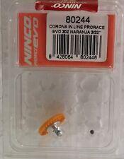 NINCO 80244 30 TOOTH INLINE CROWN GEAR PRORACE EVO 3/32 ORANGE 1/32 SLOT PART