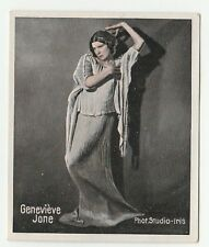 1930s German Dance Floors Of The World Tobacco card #096 Dancer Genevieve Jone