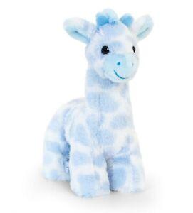 BLUE GIRAFFE Teddy Bear Soft Toy - New Born Boy Christening Baby Shower Gift