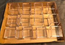 """New listing GOLF BALL CUBES: LOT OF 12, 2 PIECE, 2""""X2"""" PLASTIC, LIKE NEW, INCLUDES PIN HDLRS"""
