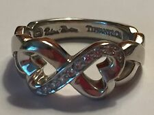 Tiffany & Co. 18K Gold Diamond Paloma Picasso Double Loving Heart Ring (Size 4)