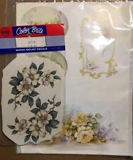 Craft Decal Lot Of 2 Water And Découpage Kit 1c