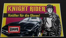 Aufkleber EUROPA Knight Rider David Hasselhoff Hörspiel-Cassetten 1982 Sticker I
