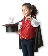 Kid's Magician Costume Set Includes Hat, Cape, Wand Magic Tricks for ages 3-6