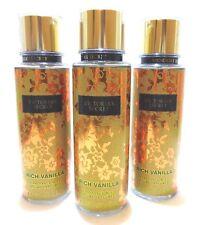 3 Rich Vanilla Fragrance Mist Victoria's Secret 8.4 Oz