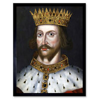 Portrait King Henry II England Royal Historic Painting Art Print Framed 12x16
