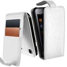 Housse Etui Portefeuille pour Samsung Galaxy S i9003 couleur Blanc