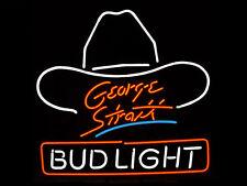 "Brand New George Strait Beer Bar Pub Art Sign Neon Light 16""x15"" [High Quality]"