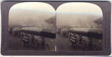 Grande Guerre Trophés Canons Allemagne WW1 Stéréo Photo Vintage argentique