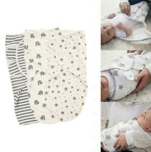 Soft Cotton Baby Blankets Newborn Swaddle Wrap Pram Crib Sleepsack Basket Unisex