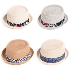 edec2b81c44287 Adult unisex Straw Pork Pie Hat with Hawaiian Band or Patterned Band ,fast  post