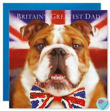 Dad Birthday Card Any Occasion Birthday to from British Bulldog Dog Lover
