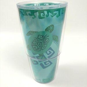 Tervis Sea Turtle Teal  Aqua Tumbler 24 oz Cup Ocean Blue