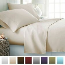 Luxury Bedding Items ,1000 Thread Count 100% Egyptian Cotton Ivory Solid