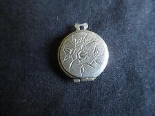 ancien pendentif bijou porte photo en argent début XX ème