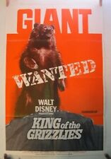 King Of The Grizzlies 1970 Disney Film Poster Giant