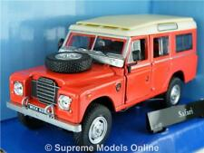 LAND ROVER CAR MODEL 1/43RD SIZE RED/CREAM LWB 4X4 OFF ROAD VERSION R0154X{:}