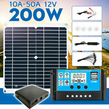 200W Solar Panel kit 12V battery Charger 10/20/30/40/50A Controller Caravan Boat