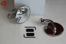 "3"" Convex Peep Curved Arm Mirror Set Rearview Outside Door Classic Car Truck New"