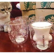 Cat Paw Mug Sakura Pink Double Wall Glass Cat Claw Cup Mug for Starbucks Coffee