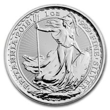 5 x 1oz silver Britannia 2018 - UK seller - no import charges