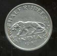 INDE half  1/2   rupée  1947    ANM
