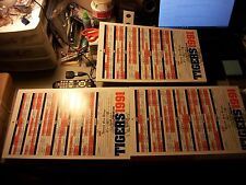 """1991 DETROIT TIGERS SCHEDULE POSTER LOT OF OVER 200 11""""X18"""" DETROIT FREE PRESS#2"""
