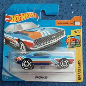 Hot Wheels 2019 #248 - HW Art Cars 9/10 - '67 Camaro - Treasure Hunt