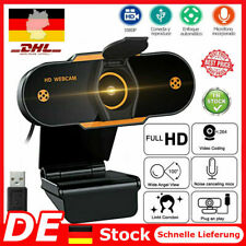 HD Webcam 1080P Kamera USB 2.0 Mit Mikrofon für Computer PC Laptop Notebook DE